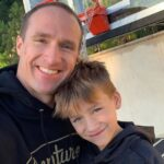 Drew Brees with son Callen Christian Brees