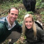 Drew Brees with wife Brittany Brees