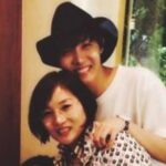 J-Hope with his mother