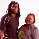Julio Jones with mother Queen Marvin