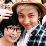 Kim Nam-joon with his mother