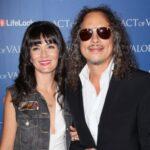 Kirk Hammett with wife Lani Hammett image
