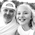 Lars Ulrich with daughter Bryce Thadeus Ulrich-Nielsen