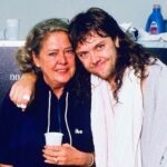 Lars Ulrich with his mother