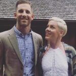 Pink with her brother Jason Moore