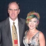 Pink with her father Jim Moore