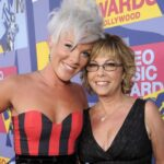 Pink with her mother Judith Moore