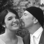 The Edge with daughter Arran Evans