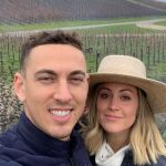 Austin Barnes with wife Nicole Barnes
