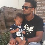C J Goodwin with his son