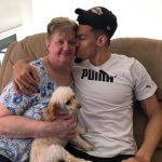 Danny Green with his grandmother