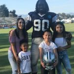 DeMarcus Lawrence with wife and kids