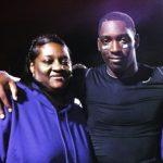 DeMarcus lawrence with his mother Yvonne Lawrence