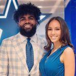 Ezekiel Elliott with girlfriend Halle Woodard
