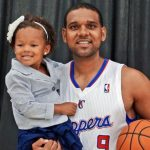 Jared Dudley with daughter Jaylin Dudley