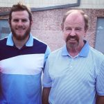Max Muncy with his father Lee Muncy