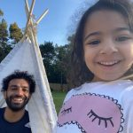 Mohamed Salah with daughter Makka Mohamed Salah