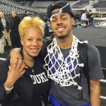 Quinn Cook with mother Janet Cook