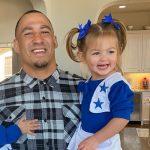 Tyrone Crawford with daughter Mia Crawford