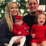 Tyrone Crawford with wife and kids