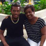 Chris Jordan with his mother Rosita Jordan
