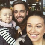 Chrisa Woakes with wife and daughter Laila Louise