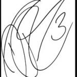 Daniel Ricciardo signature image.