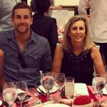 Dawid Malan with his mother Janet Malan