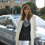 Diane with her BMW car image.