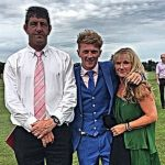 Dom Bess with his parents