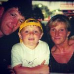 Dom Bess with his parents in childhood