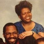 Donald's father and mother Beverly Glover.