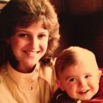 James Anderson with his mother Catherine Anderson in childhood