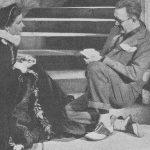 Jhon and his girlfrend Katharine Hepburn image.