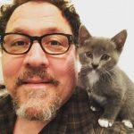 Jon and his pet cat.