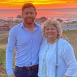 Jonny Bairstow with mother Janet Bairstow