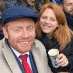 Jonny Bairstow with sister Rebecca Bairstow