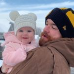 Jordan Berry with his daughter Charlotte Anne Berry