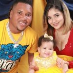 Jose Ramirez with wife and daughter Bella