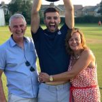 Mark Wood with his parents