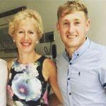 Matt Parkinson with his mother Maria Parkinson