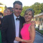 Sam Curran with his mother Sarah Curran