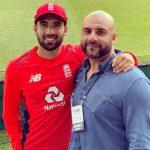 Saqib Mahmood with his father