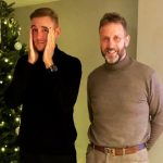 Stuart Broad with father Chris Broad