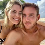 Stuart Broad with his girlfriend Mollie King