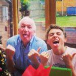 Tom Banton with his grandfather