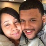 Aaron Donald and his girlfriend Jaelynn Blakey