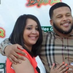 Aaron Donald and his wife Jaelynn Blakey