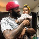 Andre Drummond with daughter Aubrey Costadoni-Drummond