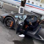 Antonio Brown and his Lamborghini car